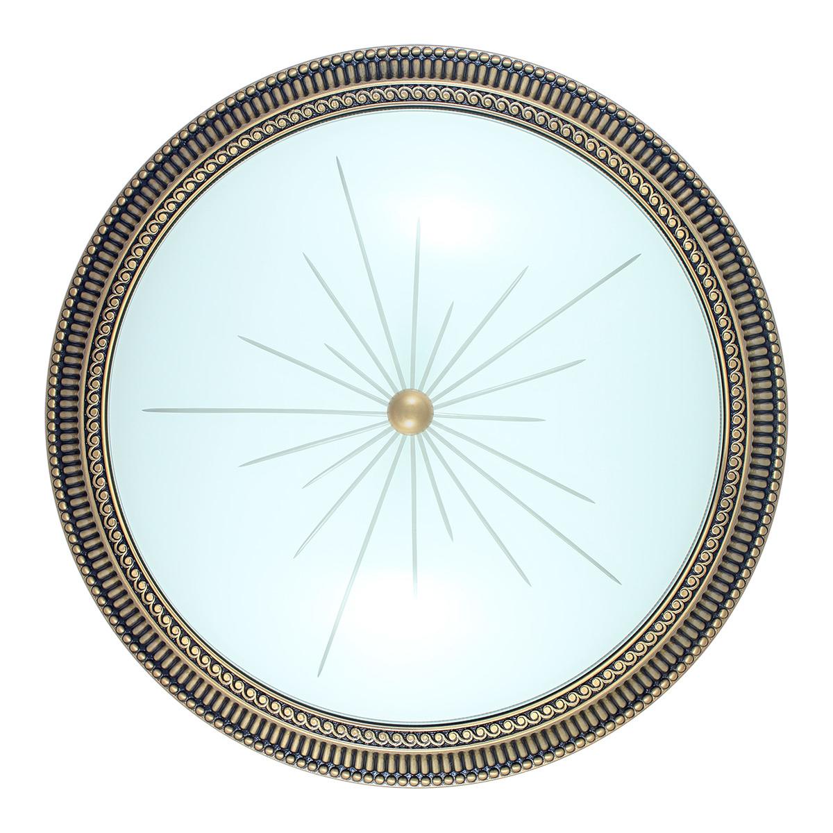 Изображение Plafoniera in bronzo - Stile rigato - Diametro 50,6 cm