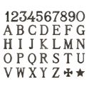 Immagine di Lettere e numeri in bronzo per lapidi. Modello Romano. Bronzo Patinato