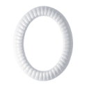 Picture of Oval photo frame - Empire line - White - Porcelain