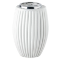 Picture of Flower vase for gravestone - Empire line white - Porcelain