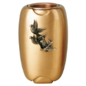 Picture of Flower vase with doves - Olpe Volo - Bronze (Cineraries and ossuaries)
