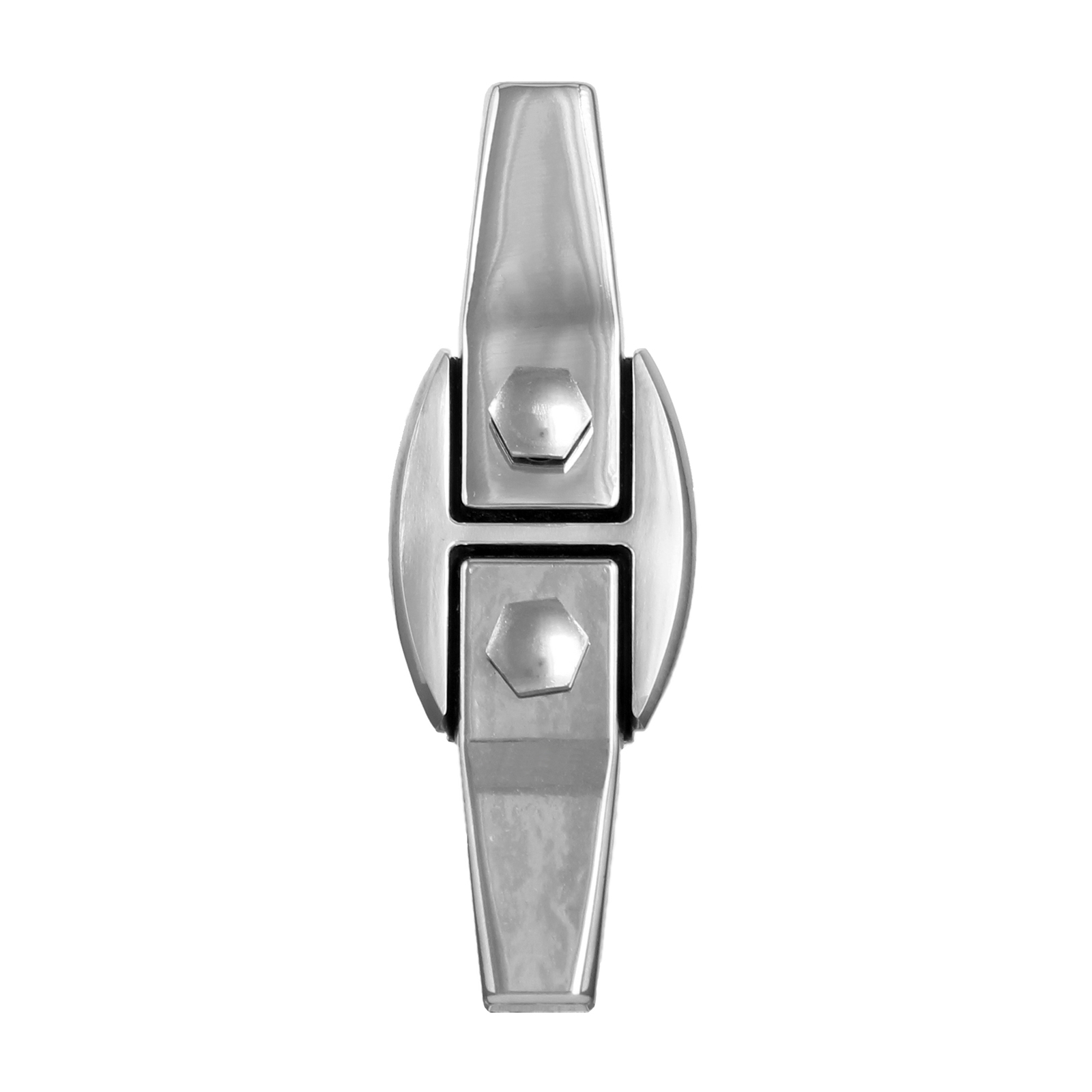Staffa compatta in acciaio inox cm 6x14