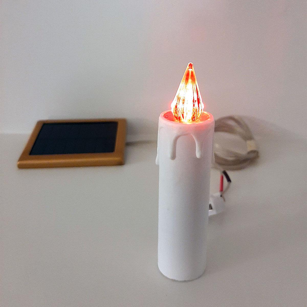 Lumino votivo a pannello solare