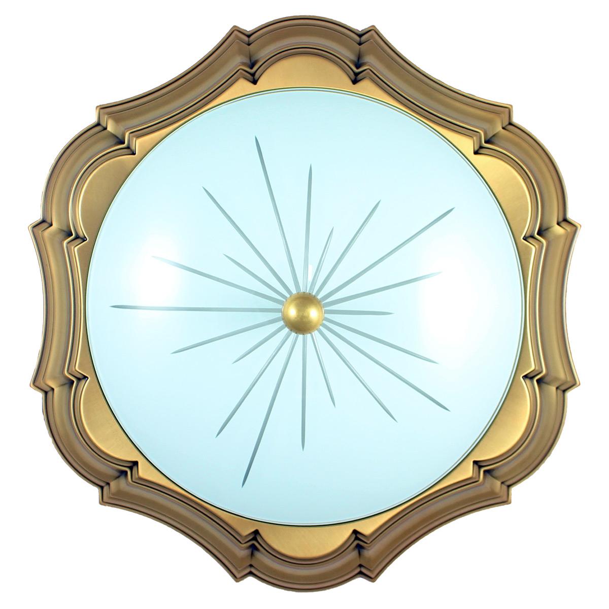Immagine di Plafoniera in bronzo - Stile classico - Diametro 40,5 cm
